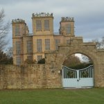 Hardwick Hall from the stable yard