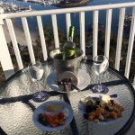 Hors d' oeuvres and Wine on the Balcony