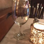 wine glass embossed with their name