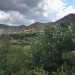 Town of Jerome from the overlook. The Powder Box Church is in the center