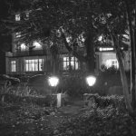 The hotel by night (B&W 35mm film)