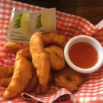 Chicken fingers....and we've NEVER had finger wipes before either....