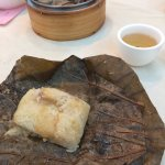 Lo mai gai (sticky rice in lotus leaf)