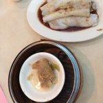Char siu cheung fun (bbq pork in rice noodle)