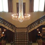 Grand staircase into the lobby