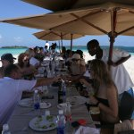Safari Blue lunch on the sand bank