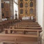 view inside the historic church at San Xavier