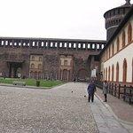 Inside the walls of Castello Sforzesco