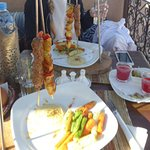 mixed hanging kebabs
