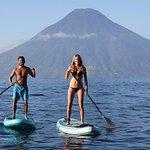 Sunrise paddle boarding