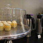 Daily complimentary coffee + cupcakes 3:30PM - 6:30PM.