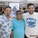Me, Anil store owner & my son