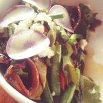 Warm bean salad ($12)