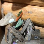Cool driftwood fairy houses, Crystal Cove Beach Resort 1165 Cedarwood Place, Tofino, British Col