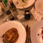 Lobster Ravioli and Bolognese
