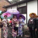 Some dress up geisha's