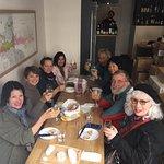 Our lour group enjoying our cuisine.