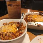 Spaghetti Pie and Baked Mostaccioli featured on Diners Drive In's and Dives all that it was crac
