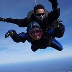 My husband free falling at 120 MPH!