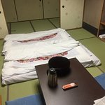 Tatami mats laid out by staff