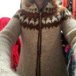 Handmade Icleandic wool sweater.