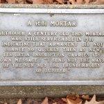plaque for a 1681 mortar