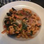 Seafood pasta offering,Avenue Bistro 2064 Comox Ave, Comox, British Columbia
