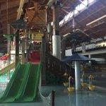 Pool and waterslide area, Three Bears Resort change location 701 Yogi Cir, Warrens, WI