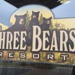 Three bears signs, Three Bears Resort change location 701 Yogi Cir, Warrens, WI