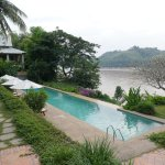 Pool view - direct view to Maekong river