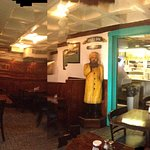 Panoramic view of interior, Salty Dog Seafood Grille & Bar,206 Faneuil Hall Market Pl, Boston, M