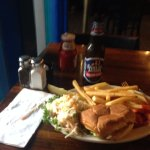 Fish burger, Salty Dog Seafood Grille & Bar,206 Faneuil Hall Market Pl, Boston, Mass