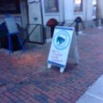 Sandwich board, Salty Dog Seafood Grille & Bar,206 Faneuil Hall Market Pl, Boston, Mass
