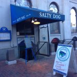 Outdoor entrance signs, Salty Dog Seafood Grille & Bar,206 Faneuil Hall Market Pl, Boston, Mass