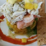 Firecracker Shrimp and Jumbo Lump Crab Stack