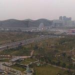 Uitzicht vanaf de 30e verdieping op Global Center Mall