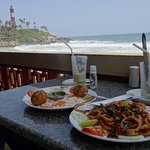 lunch time overlooking the sea