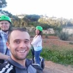 With Matthew our Segway Guide at the Buskett Gardens, Malta