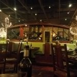 The restaurant is very large inside but very cozy.