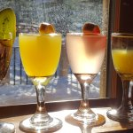 Mimosa flights with 12 flavours to choose from!