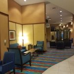 The narrow but comfortable lobby area