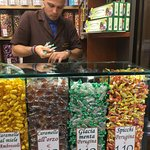 Getting Perugina candies for a friend. They had a huge selection.