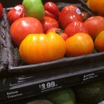 Picture from the the local Harris Teeter in Charleston - THEY know their tomatoes!