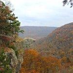 Whitaker Point aka Hawksbill Crag in November 2017 - leaves at peak
