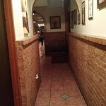 Hallway from clean restrooms