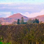 The Eildon Hills a great place for walkers. But also a lovely area to visit in in the Melrose ar