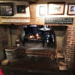 The bar with open fire