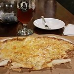 Cheese Pizza and Moon Beer IPA.