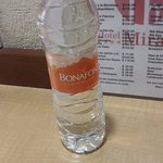 A complimentary 600ml bottle of water is offered daily