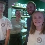 Cheerful and friendly young staff
